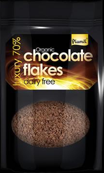 Organic Luxury 70% Dairy free Hot Chocolate Flakes 125g - gluten free