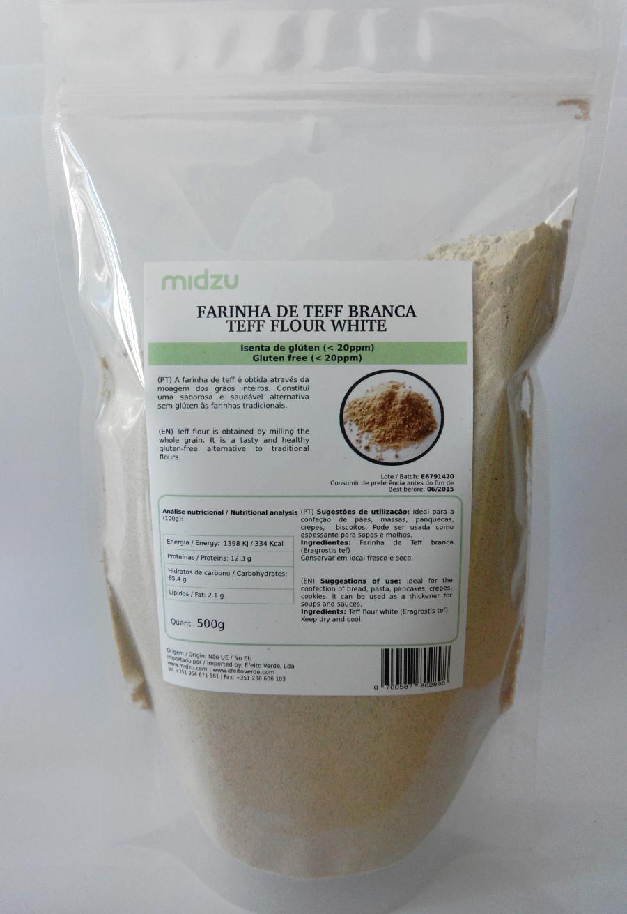 White Teff flour Midzu 500 g