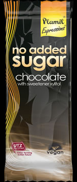 No added sugar chocolate 100g - gluten free