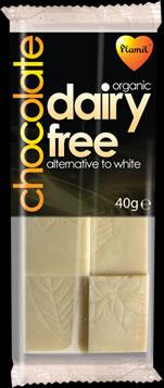 Organic dairy free white chocolate 40g - gluten free