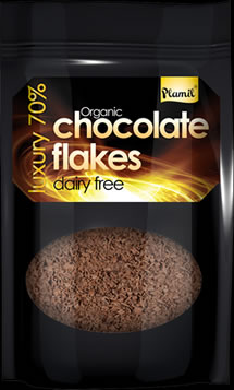 Organic Luxury 70% Dairy free Hot Chocolate Flakes 125g - gluten free