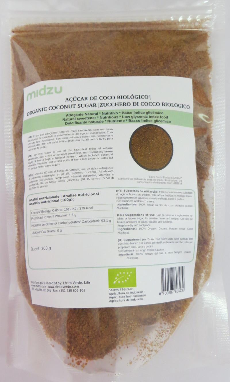Organic coconut sugar Midzu 200 g