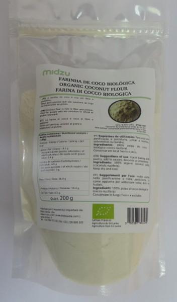 Organic coconut flour Midzu 200g