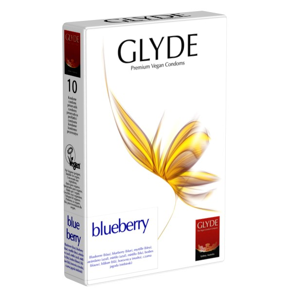 Blueberry condoms Glyde (10 pc.)
