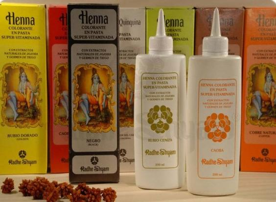 Henna colouring cream with added vitamins Natural Copper 200 ml - Radhe Shyam