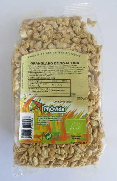 Organic fine soy granules 200g