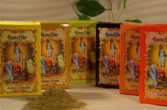 Henna Color powder coloration medium Brown 100 g - Radhe Shyam