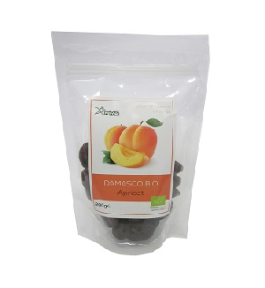Organic dried pitted apricots