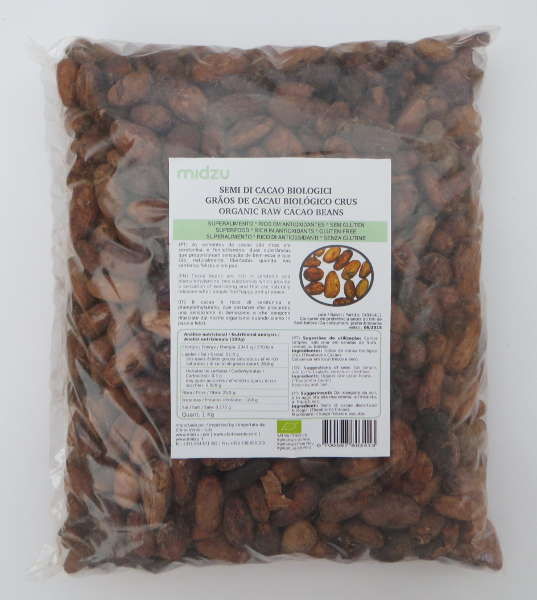 Organic Raw Cacao beans 1 Kg