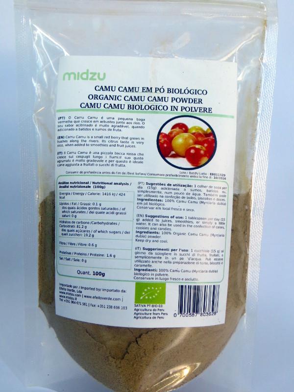 Organic Camu Camu powder Midzu 100g