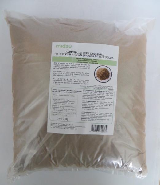 Brown Teff flour Midzu 3 Kg