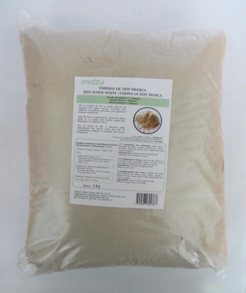 White Teff flour Midzu 3 Kg