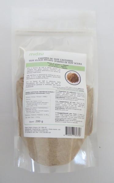 Brown Teff flour Midzu 200 g