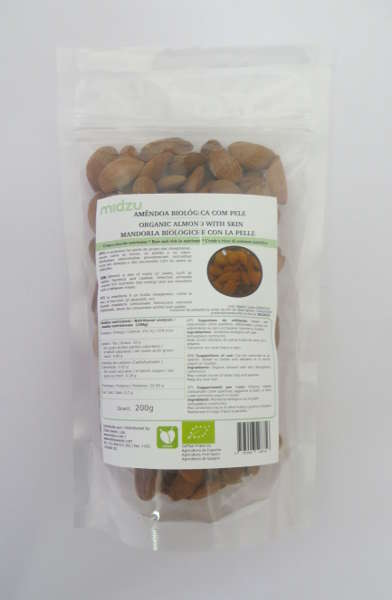 Organic almond with skin Midzu 200 g