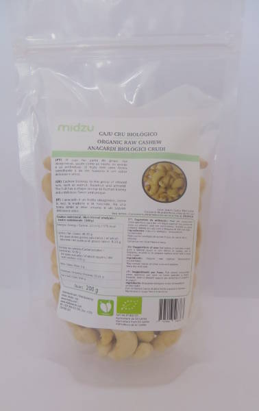 Organic raw cashews Midzu 200 g