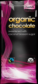 Organic Fairtrade Chocolate with Coconut Blossom Sugar 100 g - gluten free