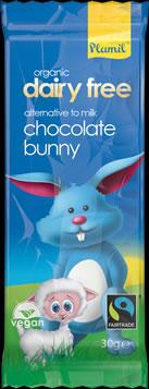 Organic Fairtrade Milky Dairy Free Bunny Bar 30 g - Gluten-free