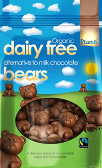 Organic Fairtrade Alternative to Milk Chocolate Bears 125g - gluten free