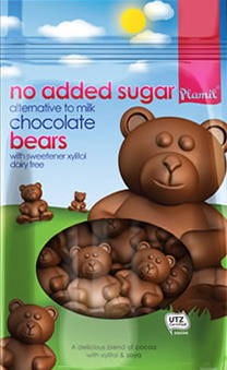 No Added Sugar Alternative to Milk Chocolate Bears 125g - gluten free